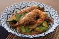 海老と豆の炒め