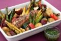 夏野菜の塩豚ロースト